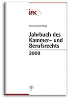 Jahrbuch des Kammer- und Berufsrechts 2008 (Cover)
