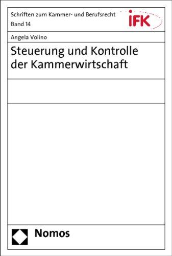 """Angela Volino: """"Steuerung und Kontrolle der Kammerwirtschaft"""" (Cover)"""