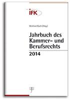 Jahrbuch des Kammer- und Berufsrechts 2014 (Cover)
